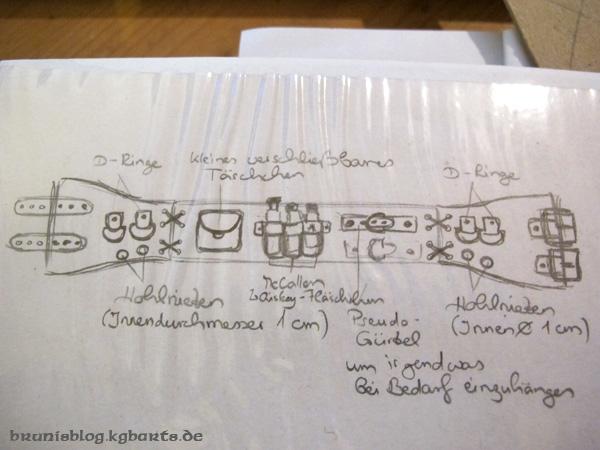 Skizze Mieder-Rüst-Gürtel