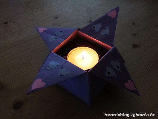 Origami-Teelicht